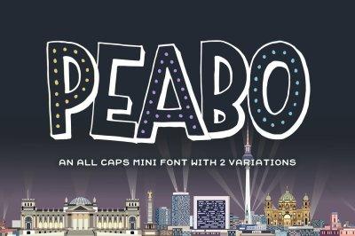 Peabo Mini Font