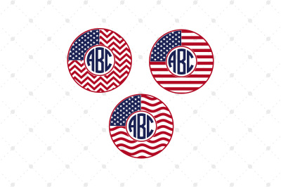 4th of July Monogram Frames