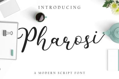 Pharosi a Modern Script Font