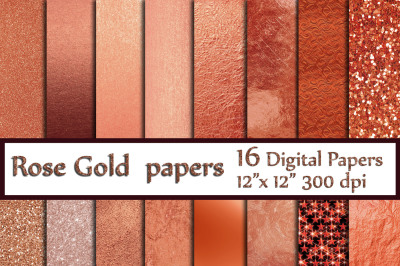 Rose Gold foil Glitter papers,Rose Gold Backgrounds