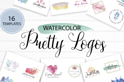 Watercolor Pretty Logos