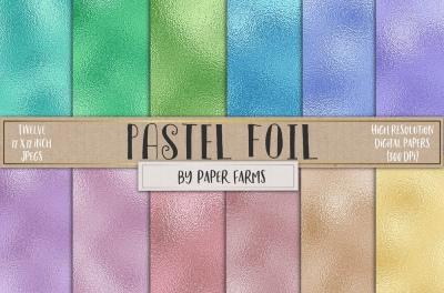 Pastel foil textures