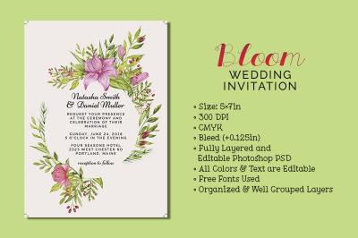 Bloom Wedding Invitation
