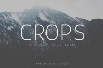 Crops - A Clean Sans Serif