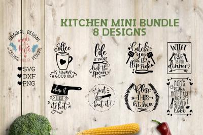 Kitchen Mini Bundle 8 Designsin SVG, DXF, PNG