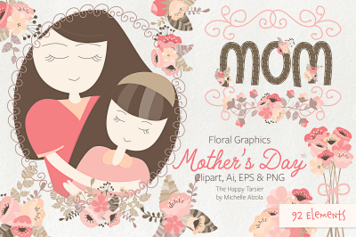 Mother's Day Clipart & Vector #16