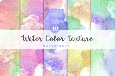10 Watercolor background Vol4.