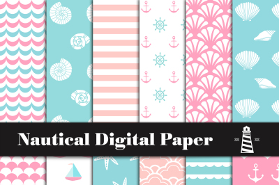 Nautical Patterns, Baby Shower Paper