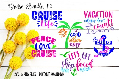 Cruise SVG Bundle of 6 Instant Download Cut Print Files