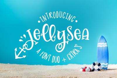 Jellysea - Font Duo + Summer Doodles