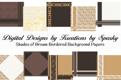 Shades of Brown Bordered Background Papers