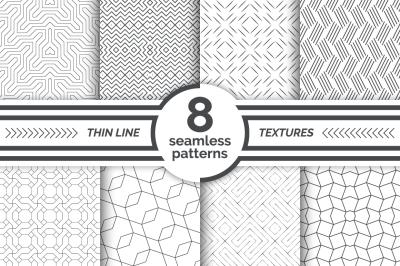 Thin line seamless patterns