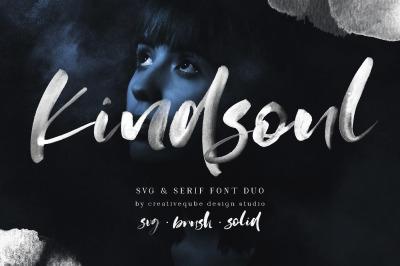 KindSoul SVG Script & Serif Font Duo