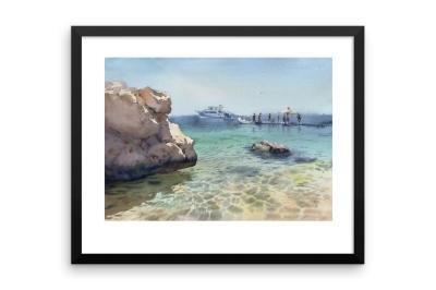 Watercolor sea Pearl of Egypt