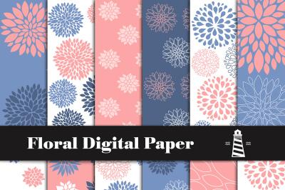 Floral Digital Paper, Floral Pattern