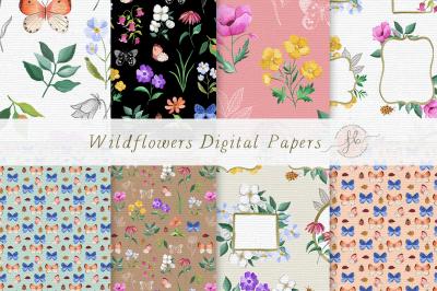 Wildflowers Digital Papers