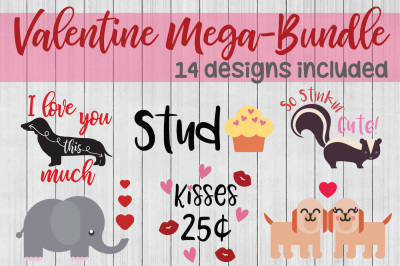 Valentine Mega Bundle, Love SVG, Valentine SVG, Cuttable Files