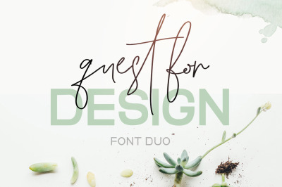 Quest for Design Font Duo