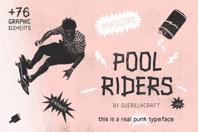Pool Riders + 76 Graphic Elements