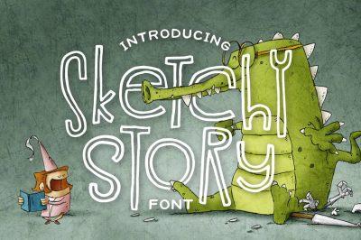 Sketchy Story Font