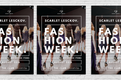 Catwalk Fashion Week Flyer