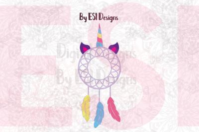 Unicorn Dream Catcher Design | SVG DXF EPS PNG