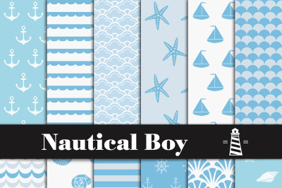 Nautical Boy Digital Paper