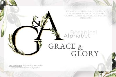 Grace & Glory Botanical Alphabet Olive