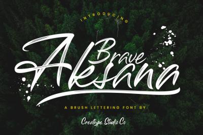 Aksana Brush Script