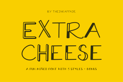 Extra Cheese Font Set
