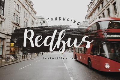 Redbus Handwritten Script