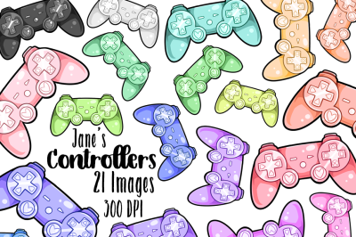 Kawaii Game Controllers Clipart