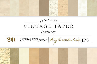 Seamless Vintage Paper Textures