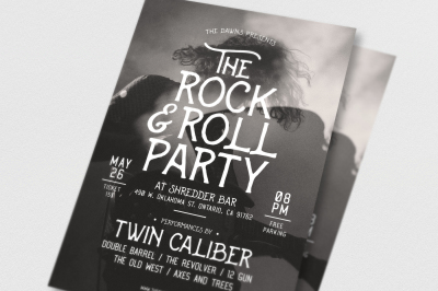 Rock & Roll Music Flyer