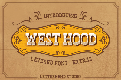 West Hood - 6 FONTS + Extras