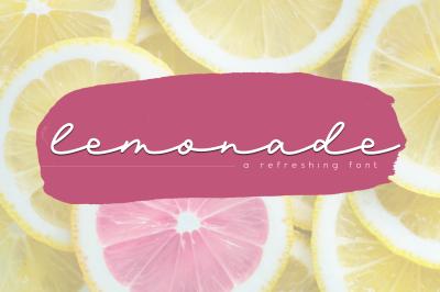 Lemonade - A Handwritten Script Font