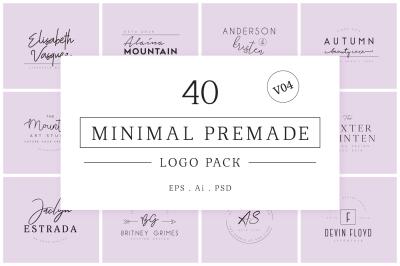 Minimal Premade Logo Bundle V04