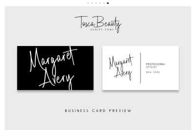 Tosca Beauty Handwrittern Font