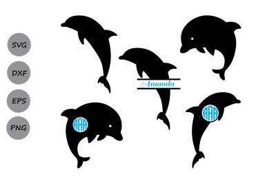 Dolphin svg, Dolphin monogram svg, Nautical svg, dolphins svg, Dxf.