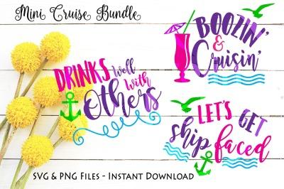 Cruise Mini Bundle Popular SVG PNG Cut Print Files Cricut Cameo Air 2