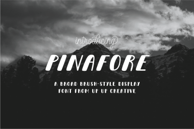 Pinafore Complete Display Font