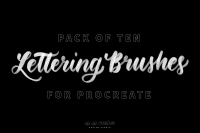 Ten Procreate Lettering Brushes