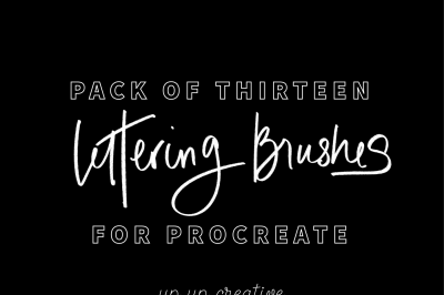 Thirteen Procreate Lettering Brushes
