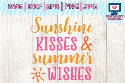 sunshine kisses svg, summer wishes svg, summer svg