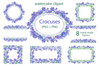 Watercolor crocuses.