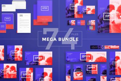 Design templates bundle | flyer, banner, branding | Open Air Party