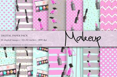 Makeup, Fashion, Cosmetic Digital Paper