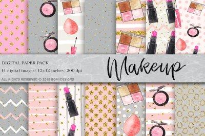 Makeup Fashion Digital Paper