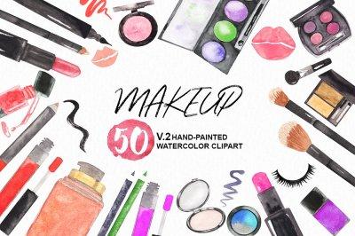 Watercolor Makeup Cosmetics Set v.2