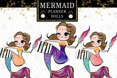 Mermaid dolls Clipart